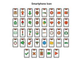 smartphone ikon illustration. platt vektorillustration. kan användas för, ikon designelement, ui, webb, mobilapp. vektor
