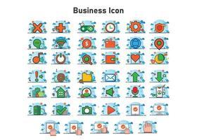 Geschäftsillustration. flache Vektorillustration. kann für, Icon Design Element, UI, Web, mobile App verwenden. vektor