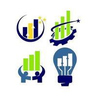 finansiell redovisning konsultation logotyp mall vektor lösning