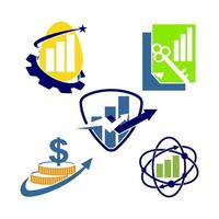 finansiell bokföring rådgivning logotyp mall ikon