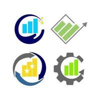 finansiell redovisning konsult logotyp mall vektor ikonuppsättning