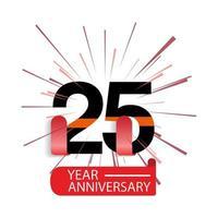 25 Jahre Jubiläum Vektor Vorlage Design Illustration