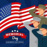Gedenktag mit USA-Flaggenkonzept vektor