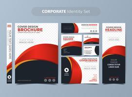 Red Corporate Identity Set vektor