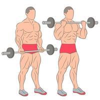 atletisk man tränar set vektor