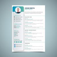 Enkel resume designmall vektor