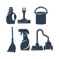 Reinigungsservice Tool Business Design Vorlage Vektor-Set vektor