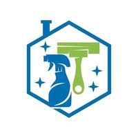 Reinigungsservice Wischerspray Business Design Vorlage Vektor