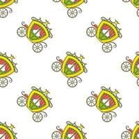farbiges nahtloses Muster. Cartoon-Stil. handgemalt. Vektorillustration lokalisiert auf weißem Hintergrund. für Walpaper, Poster, Banner. vektor