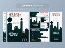 Orange Corporate Identity Set vektor