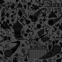 Schwarzer Russland Dekoration Hintergrund vektor