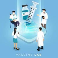 Vektorimpfkonzept. gesunde Arzneimittelimpfung, Injektion. isolierte Vektorillustration. vektor