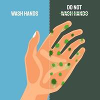 Waschen Sie Ihre Hände, um Covid-19 zu vermeiden vektor