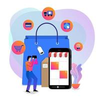 online shopping vektor