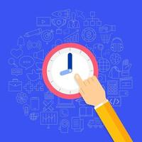 Zeitmanagement im Geschäftsvektor vektor