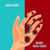 Hände waschen, um Covid-19-Coronavirus zu vermeiden vektor