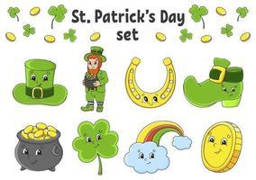 st. patrick's day set vektor