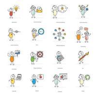 marknadsföring och seo seriefigurer