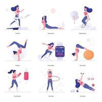 hälsa, träning och fitness vektor
