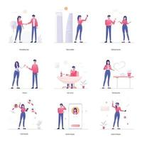 soziale Aktivitäten und Kommunikation vektor