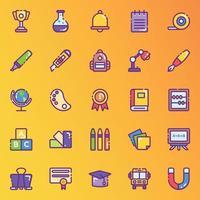 Bildungs- und Schreibwarenaufkleber vektor