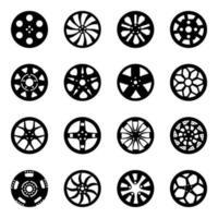 Sammlung von Felgen vektor