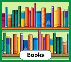 pedagogiska engelska ordkort av böcker