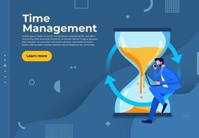 Zeitmanagement im Geschäft vektor