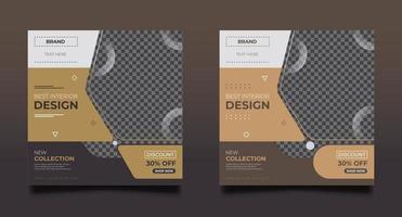 inredning design marknadsföring mall set vektor