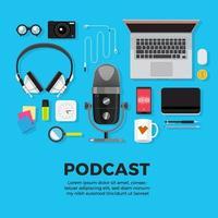 Podcast-Kanalelemente vektor