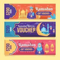 ramadan kupong mall samling vektor