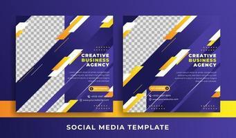 Geschäftsthema für Flyer oder Social Media-Vorlagen vektor