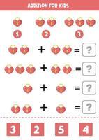 tillägg för barn med söt valentin hjärtlås. vektor