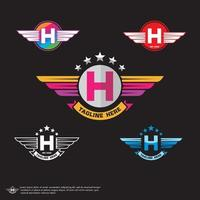 Buchstabe h Logo Vektor