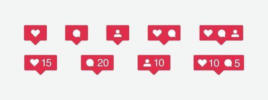 ikon för sociala medier och ange vektor
