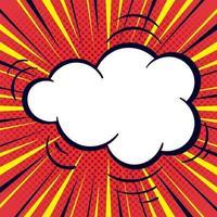 Comic-Stil Hintergrund mit Blase Rede vektor