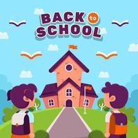 Schüler zurück zum Schulkonzept vektor