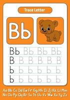 skriva bokstäver b vektor