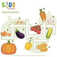 namnge det grönsaker korsord vektor