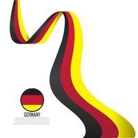 Tyskland flagga vektorillustration vektor
