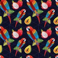 tropisk sömlös konst vacker dekorationsmall vektor