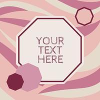 retro grafisk geometrisk mall i rosa vektor