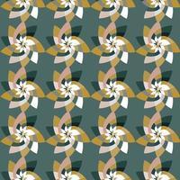 grafisk blomma upprepande mönster bakgrund kricka grön vektor