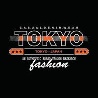 japan tokyo denim typografi t-shirt design vektor