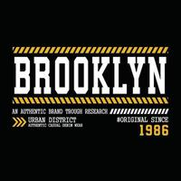 original brooklyn urban klädsel typografi design vektor