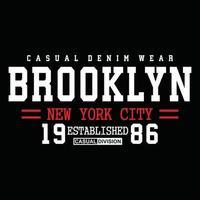 Original Brooklyn Urban Kleidung Typografie Design vektor