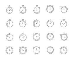 stoppur-symbol, snabbtid-ikon, express- och brådskande tjänster. redigerbar stroke. vektor