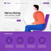 vi anställer jobbannons. digitalt team vektor