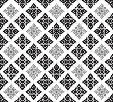 Linie thailändischer Stoff traditioneller nahtloser Musterhintergrund vektor