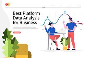 Datenanalyse-Website vektor